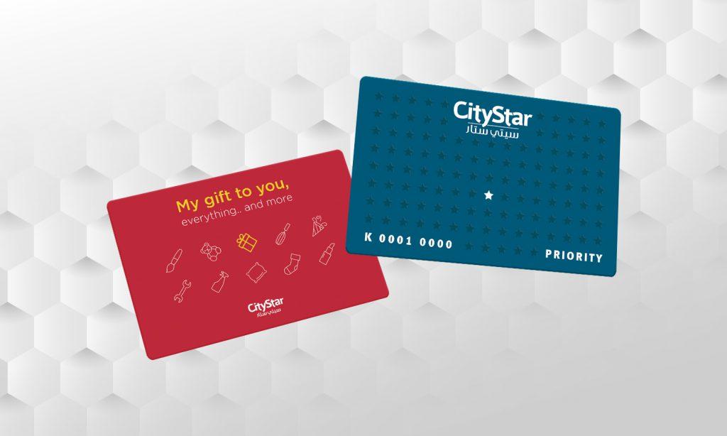 city star mega store branding on loyalty card
