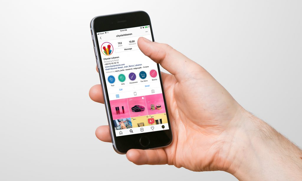 city star instagram feed design on mobile