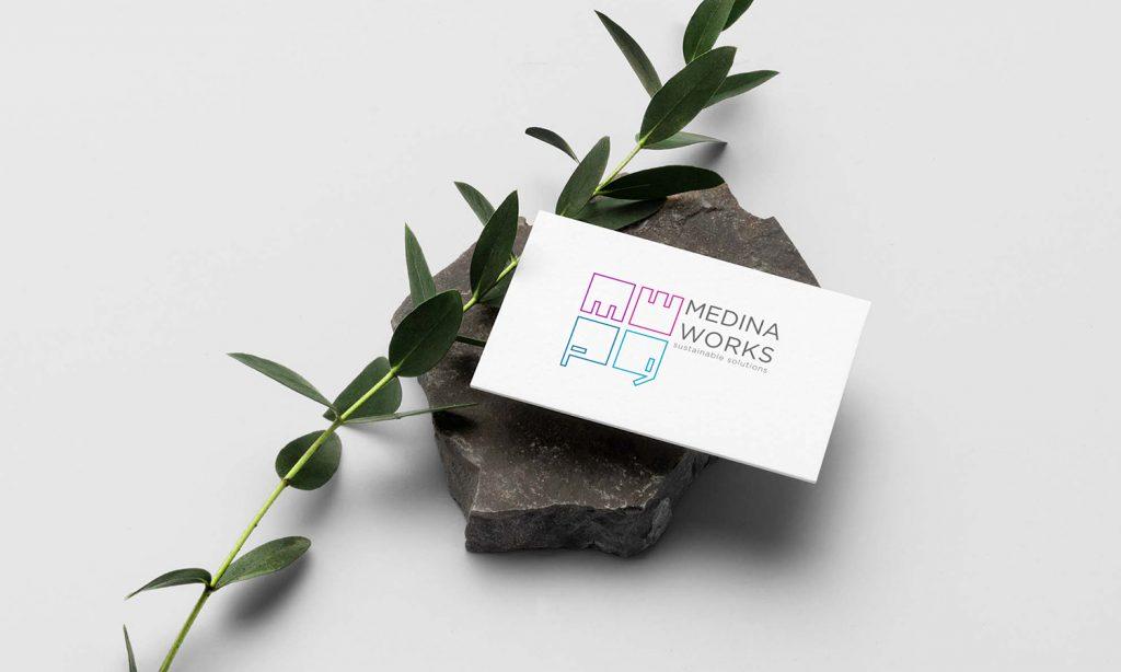 median works design & logo on business card
