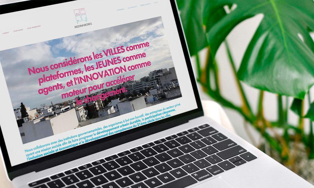 median works website design on laptop