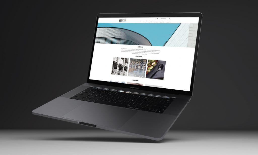 website design and branding on laptop