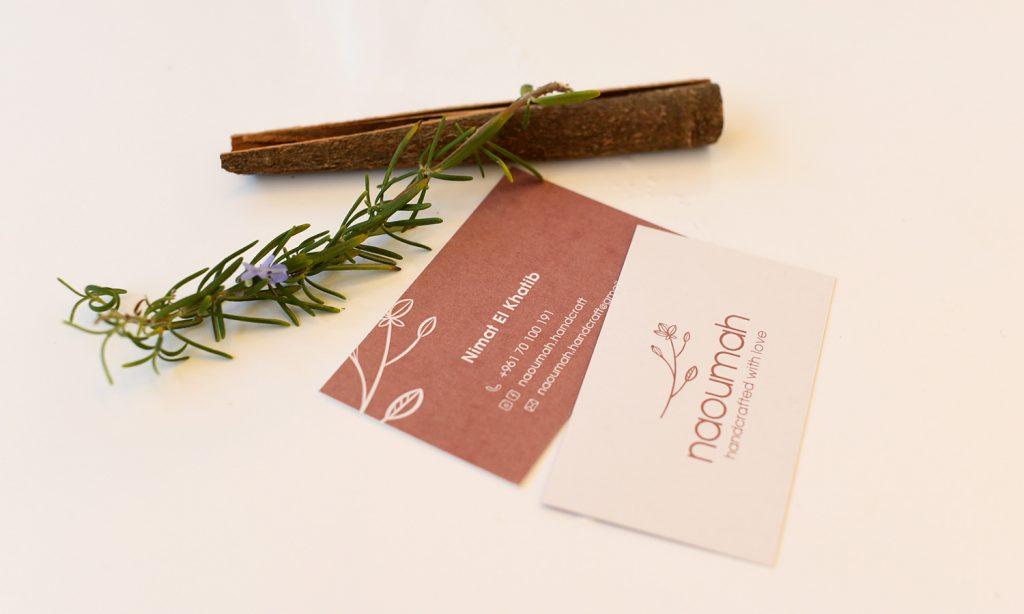 naoumah business card branding
