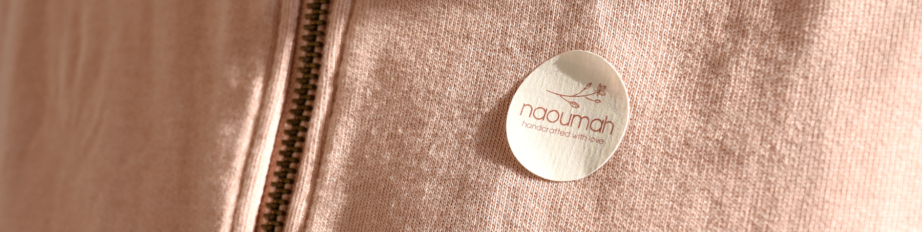 naoumah sticker tag on clothes