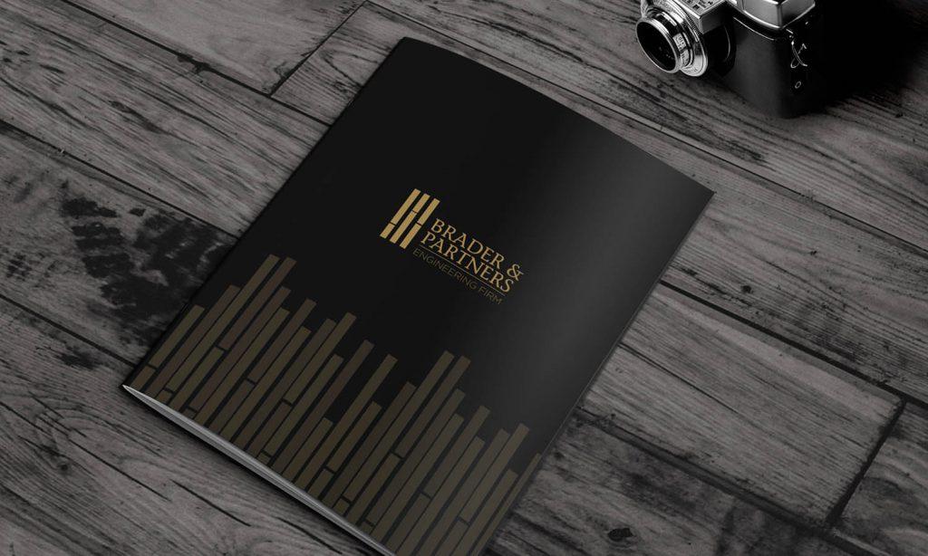 cover for business catalog design - brader & partners