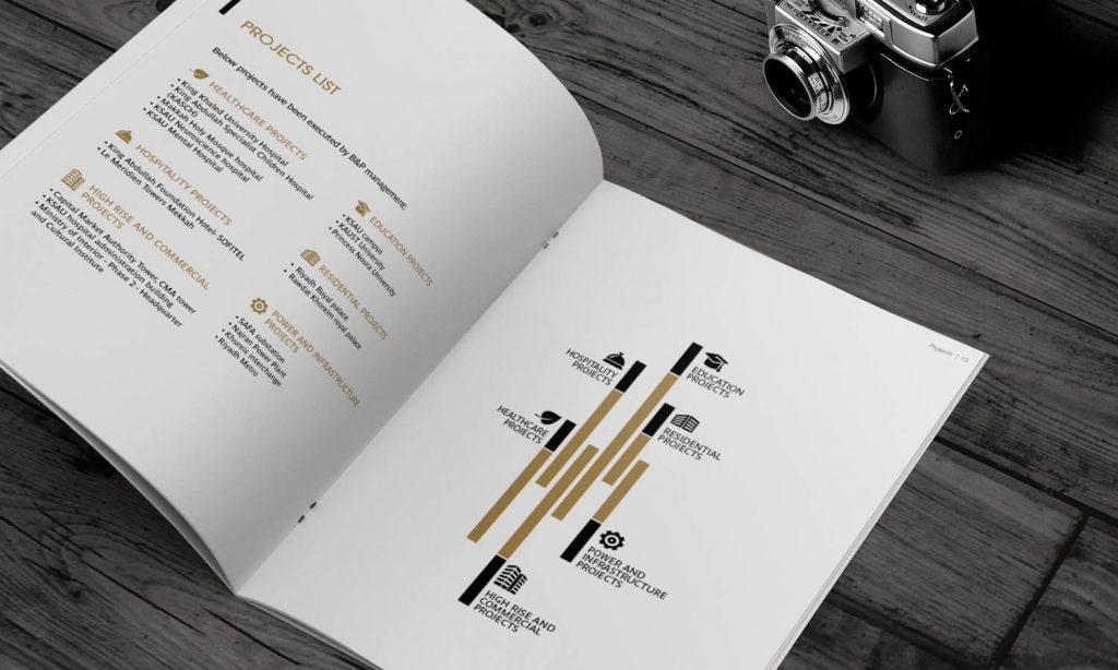 graphic design for construction catalog - architect brochure