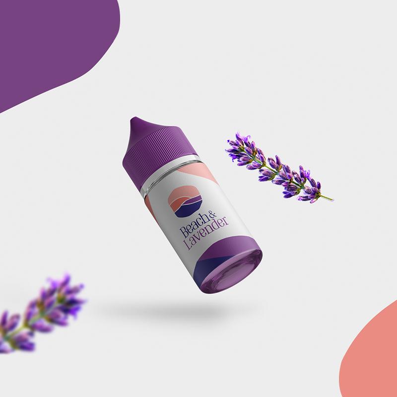 Beach & Lavender mockup design