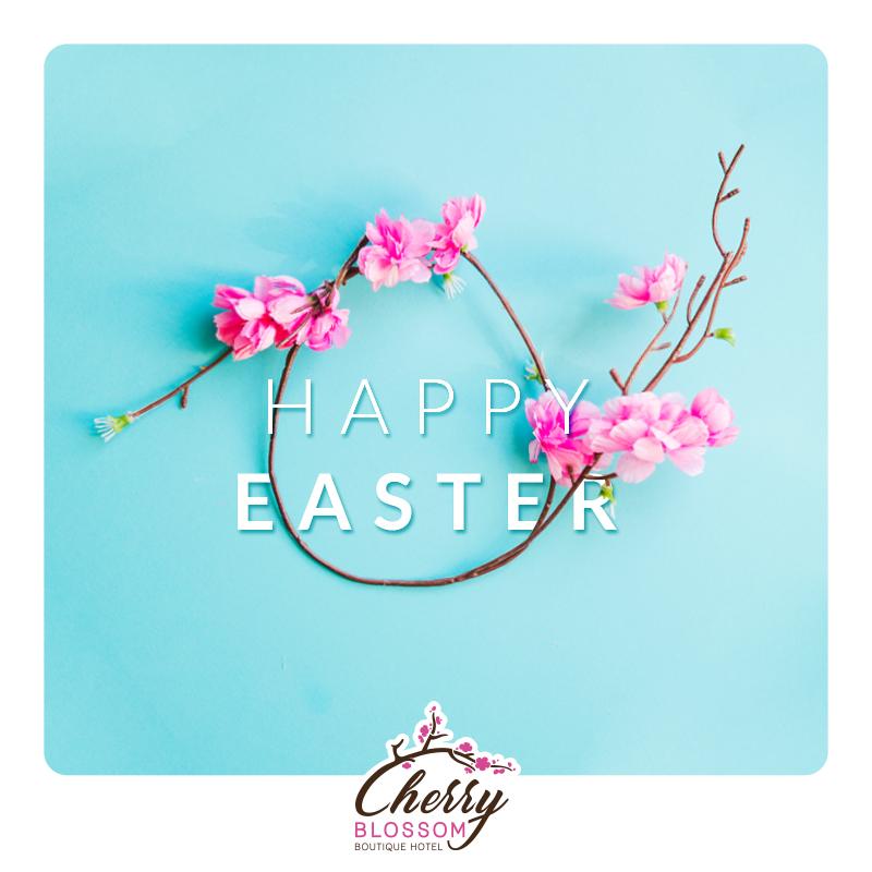 CHERRY happy easter post for social media