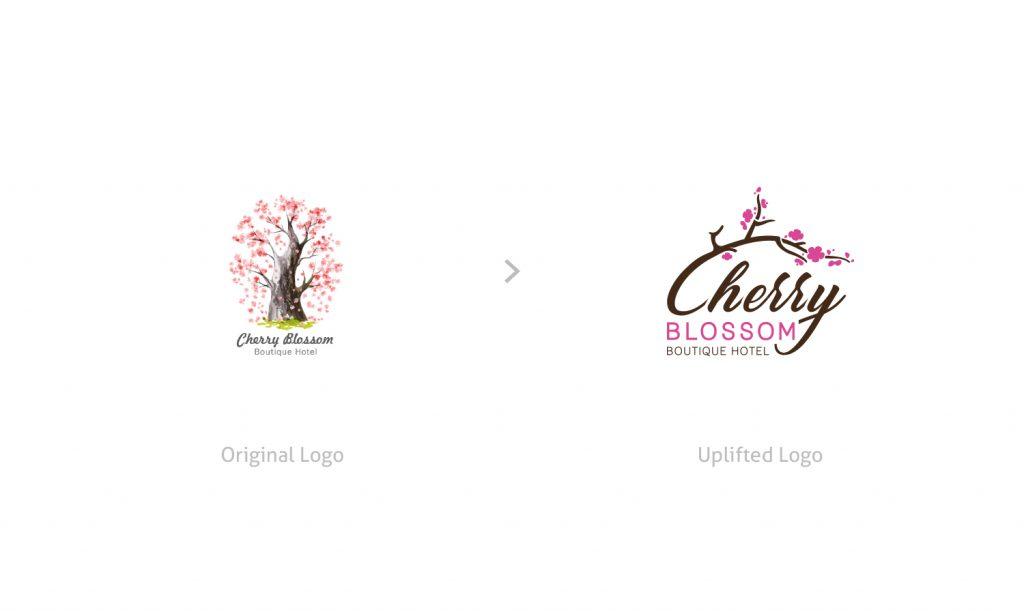 cherry blossom old logo vs new logo comparison