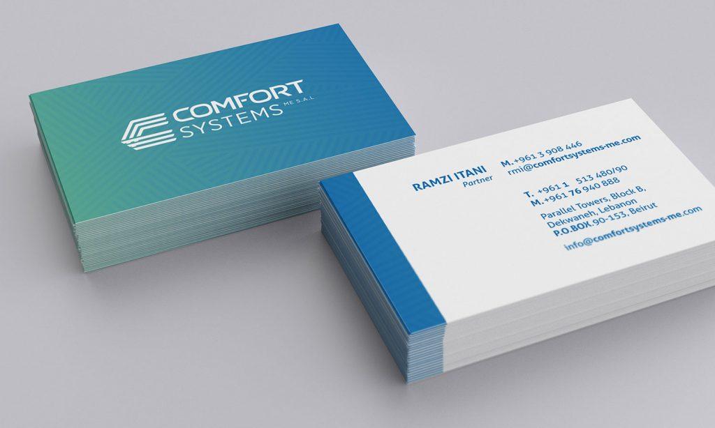 COMFORT systems business card design