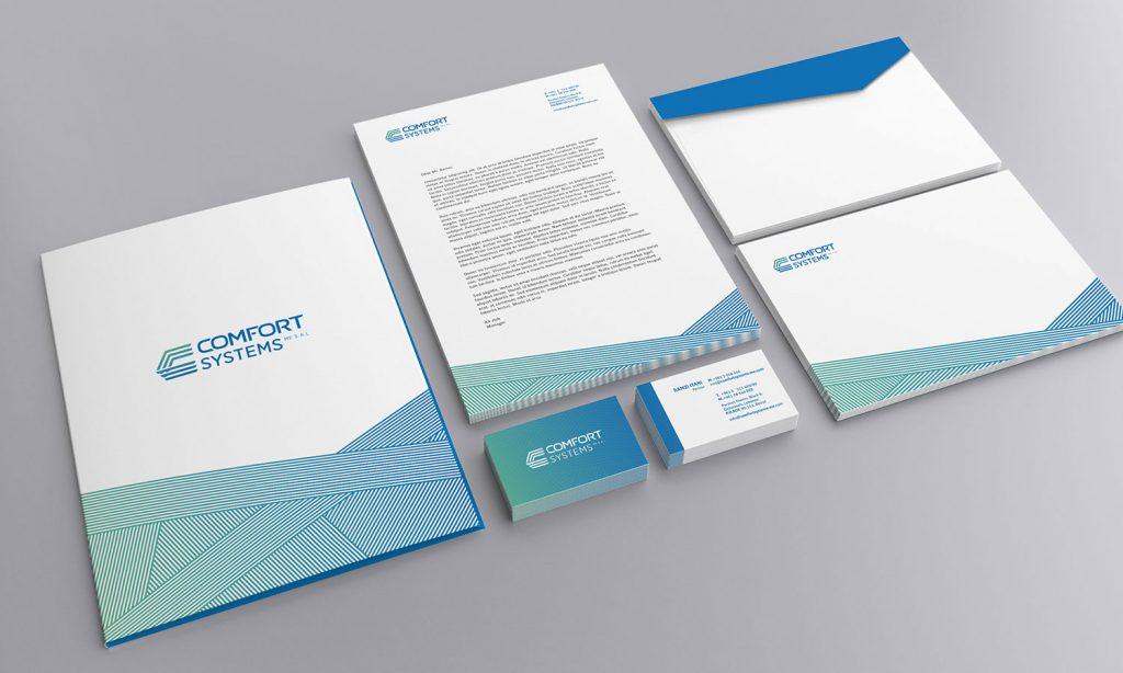 comfort systems branding design project on brochure