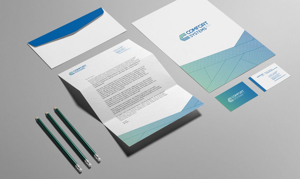 comfort systems - branding design for marketing tools