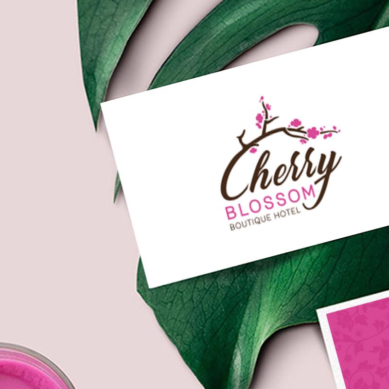 Cherry Blossom boutique & hotel logo card