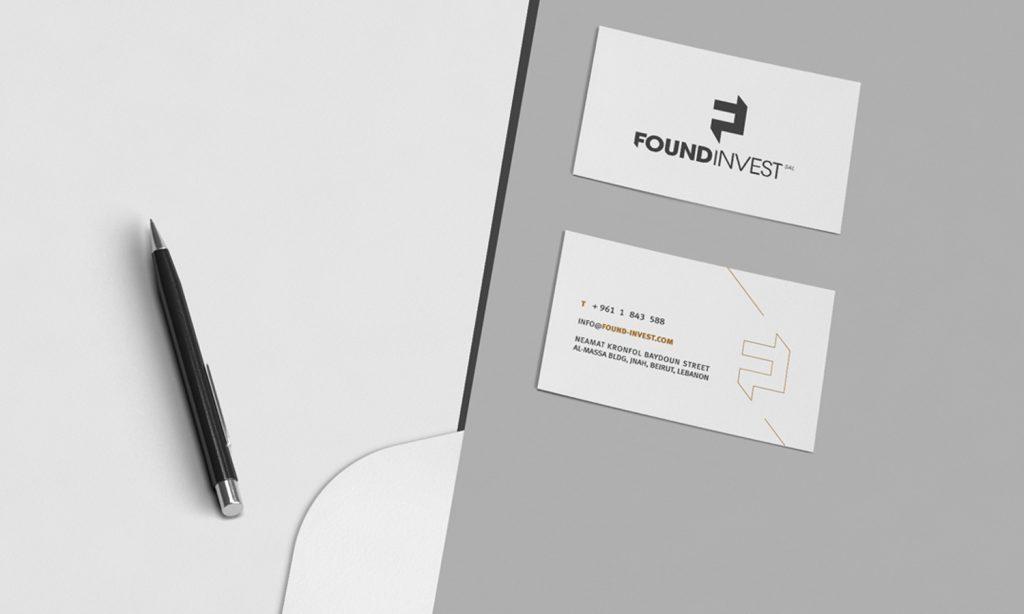 FOUNDINVEST- business card design