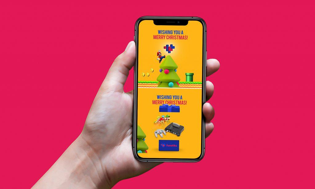 FUNATIKS mobile mockup design