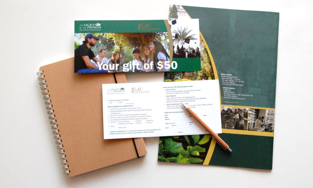 LAU - brochure and catalog design and branding