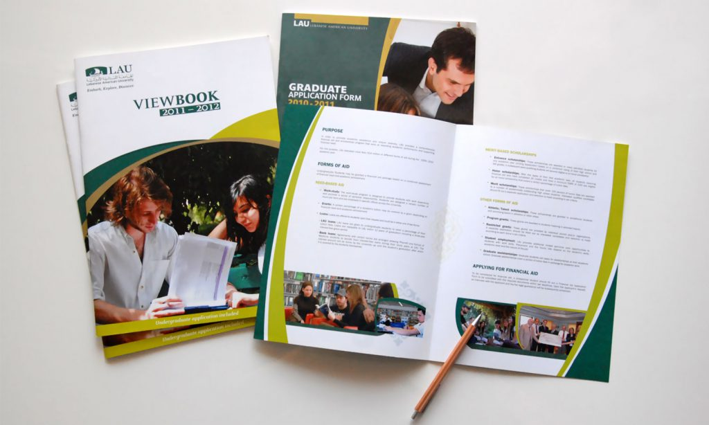LAU university brochure design and branding