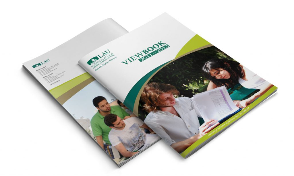 LAU - viewbook design for lebanese american university