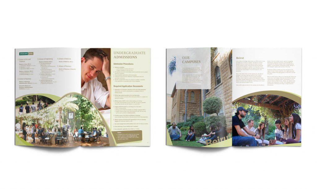 LAU - brochure branding for university