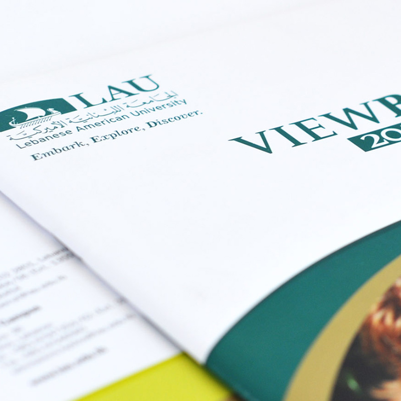 brochures and catalogues design for LAU university
