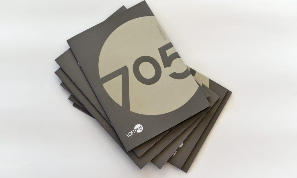 LOFT 705 logo on brochures