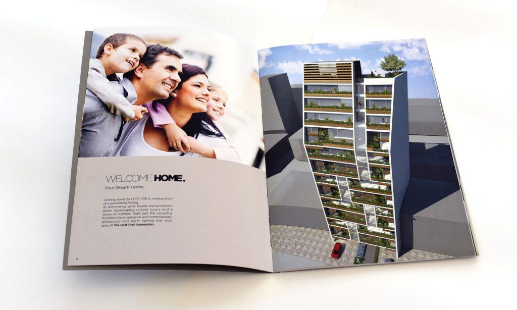 LOFT 705 brochure design
