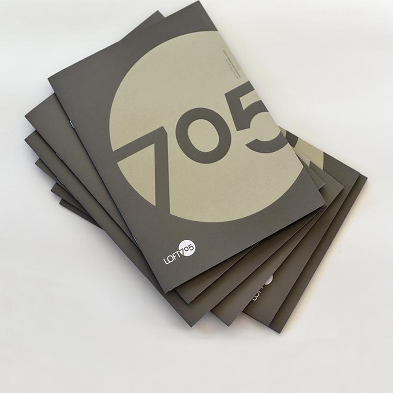 Loft 705 brochures and catalogues design