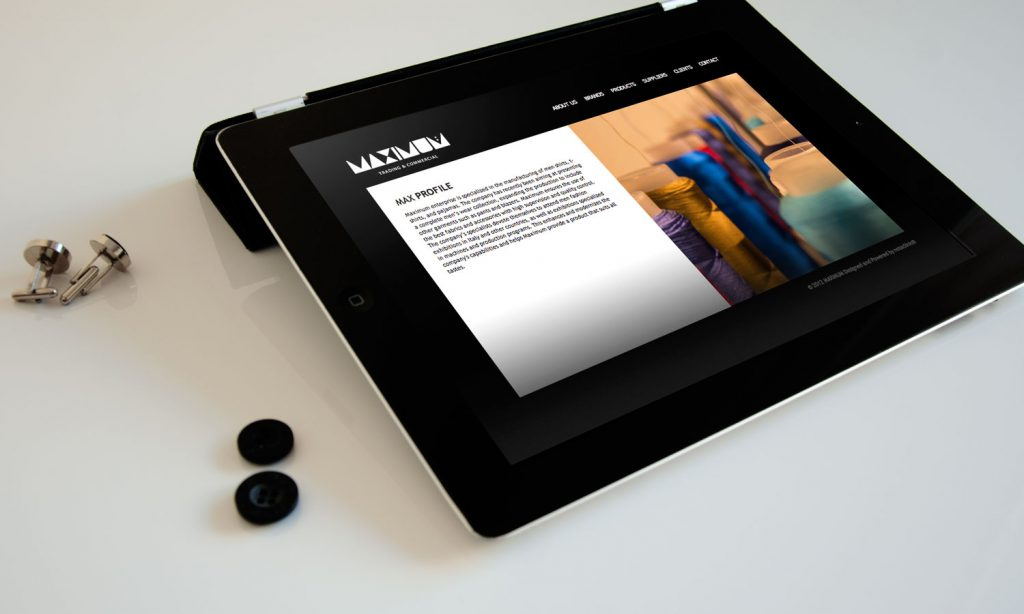 MAXIMUM - website design and development - tablet mode