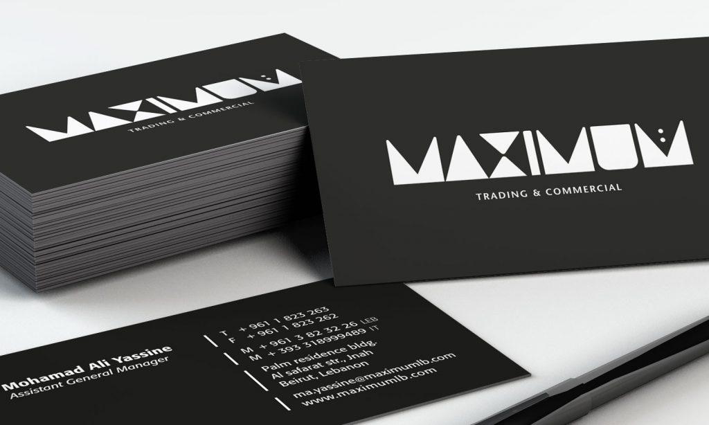 maximum logo designs on business cards