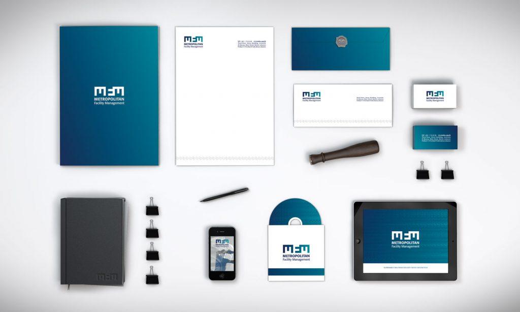 metropolitan facility management - full business branding