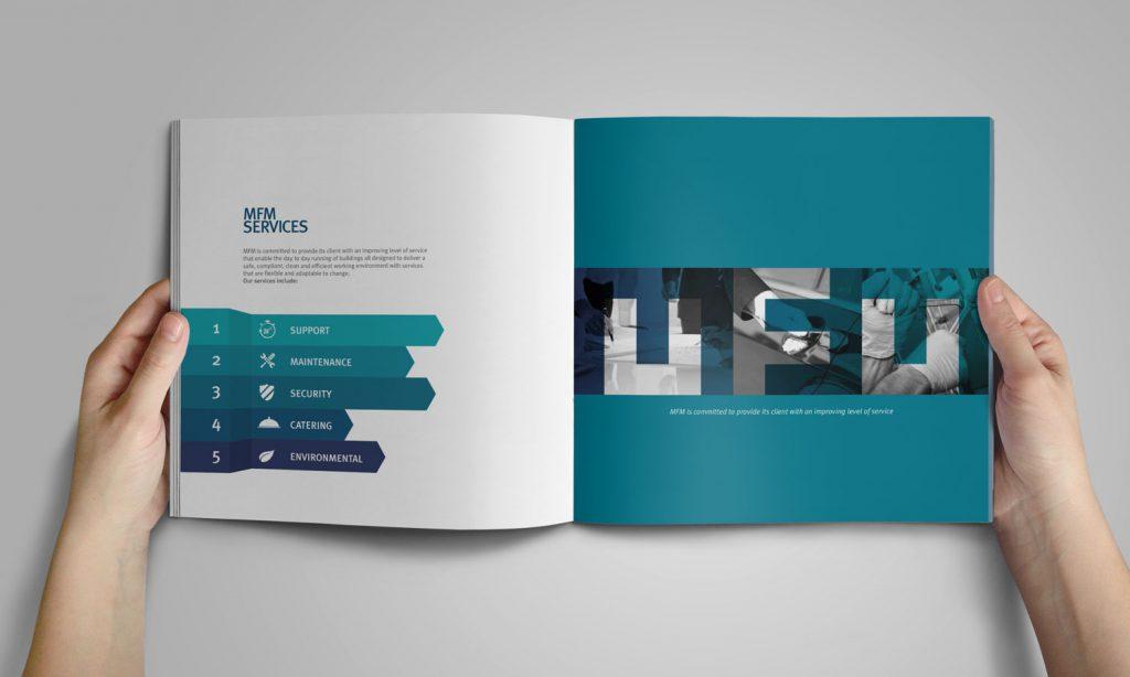 mfm services - brochure design and branding