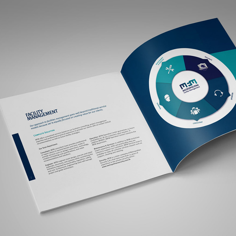 Brochure of Facility Management - logo rebranding by Notaclinic