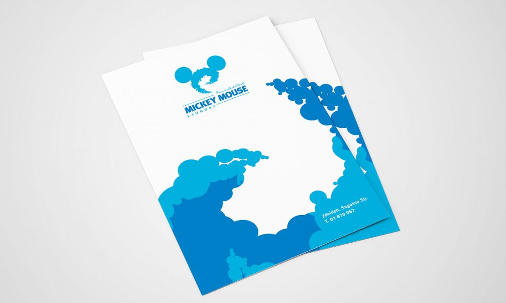 mickey mouse laundry branding for brochure