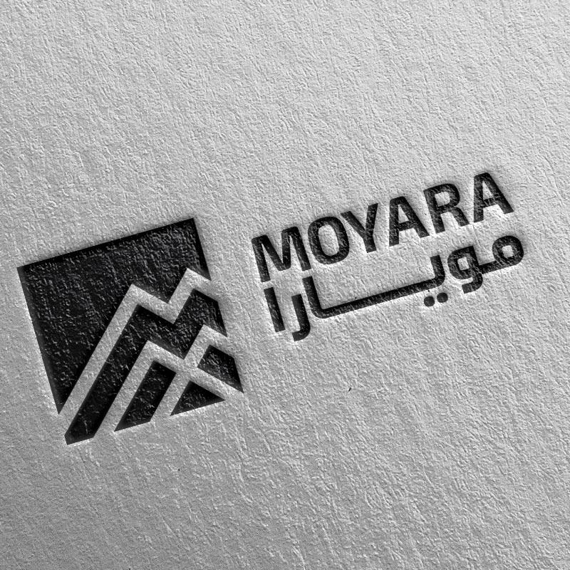 Moyara logo on business card