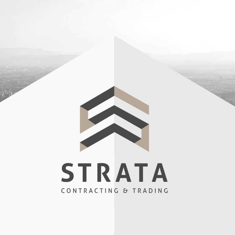 Strata contracting & trading logo 3d