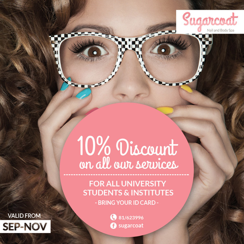 Sugarcoat ad promotion for 10% discount - marketing
