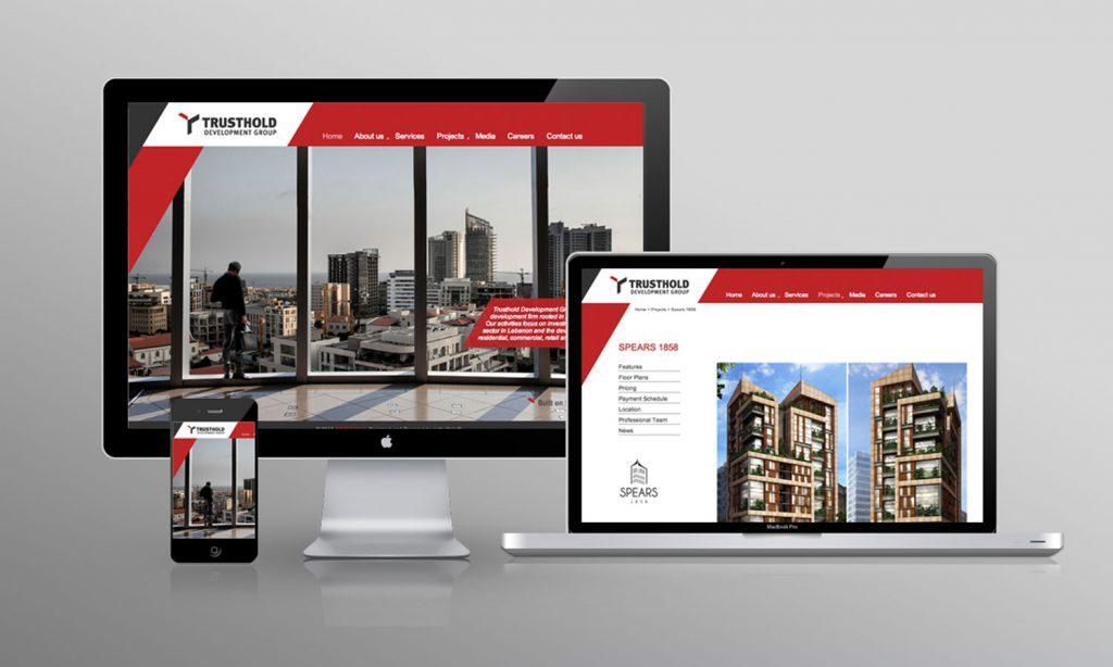 TRUSTHOLD-website design and development