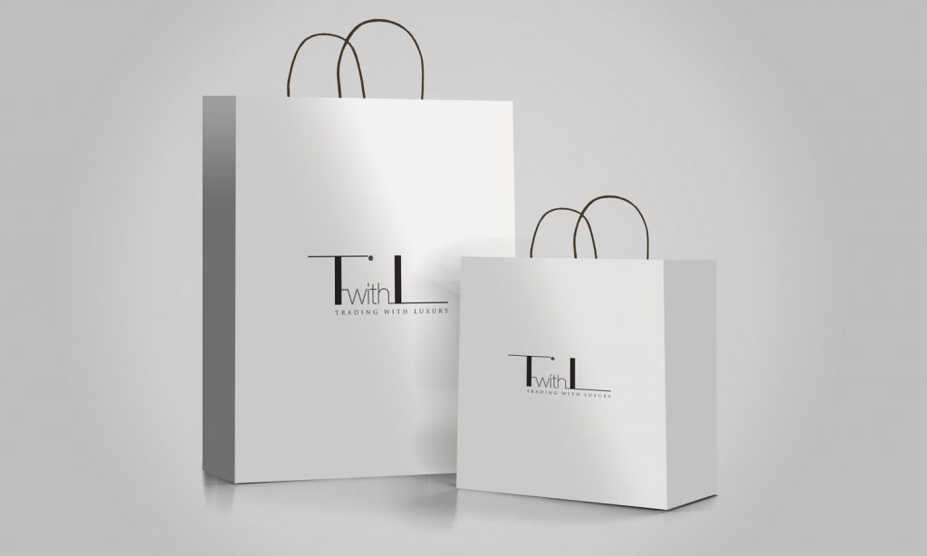 TwithL - logo designs on bags