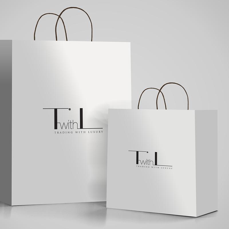 TwithL brand & logo design on bags