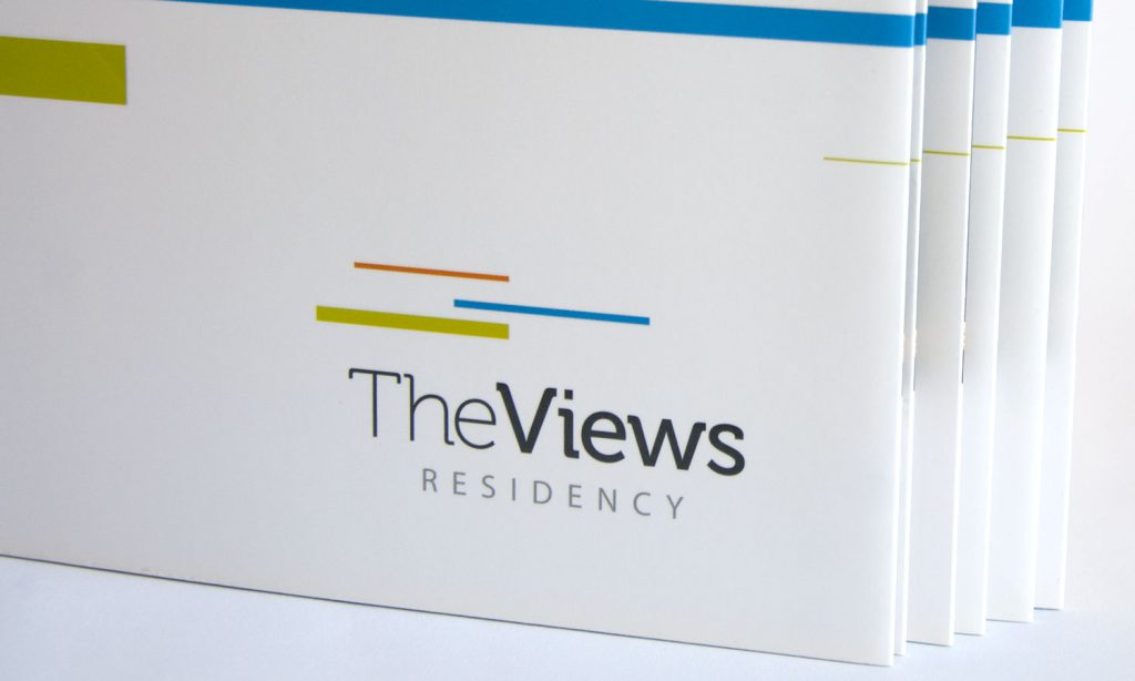 the views residency - logo on catalog