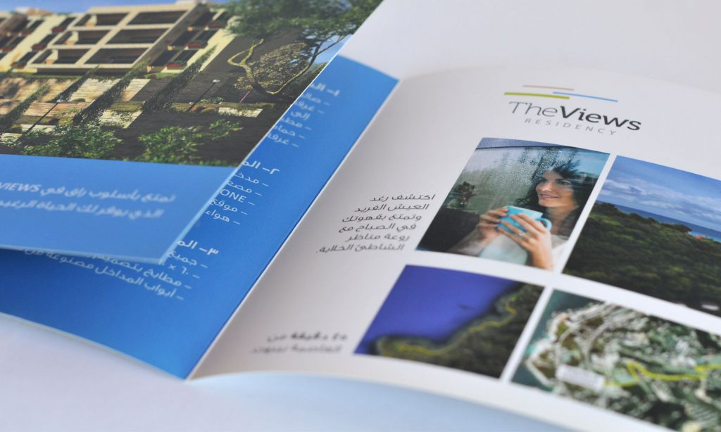 the views - brochure design