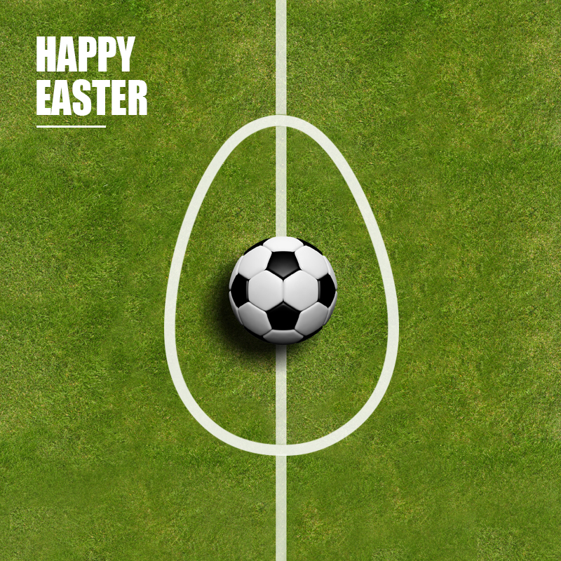 win football club - happy easter post