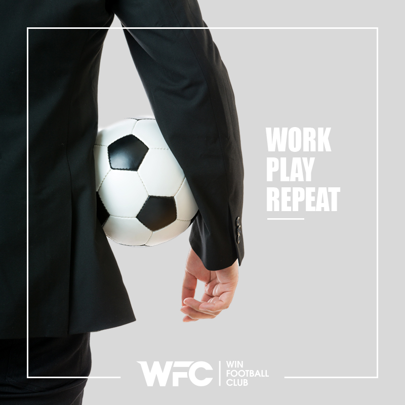 wfc - work, play, repeat post for social media