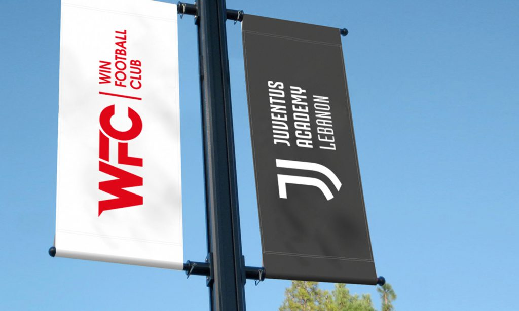 WFC-2 flags for win football club and juventus academy lebanon