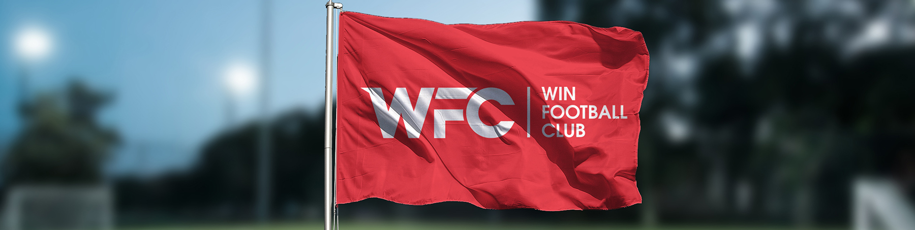 WFC-flag with logo and name
