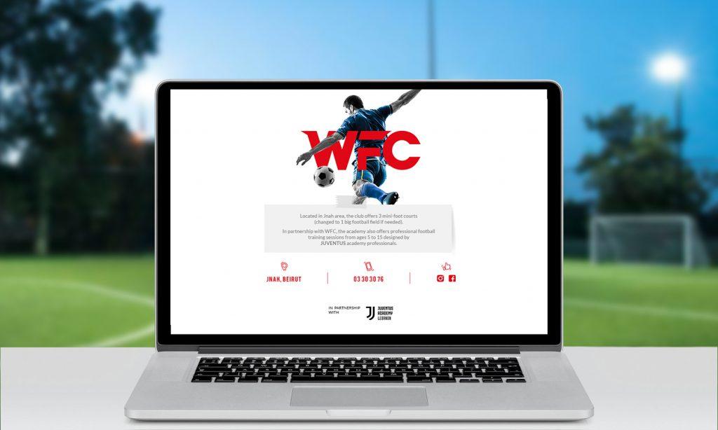 WFC - website mockup - desktop