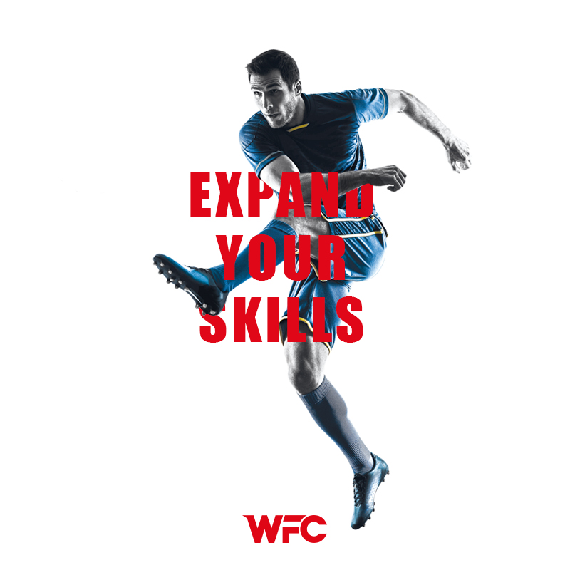win football club - expand your skills - social media post