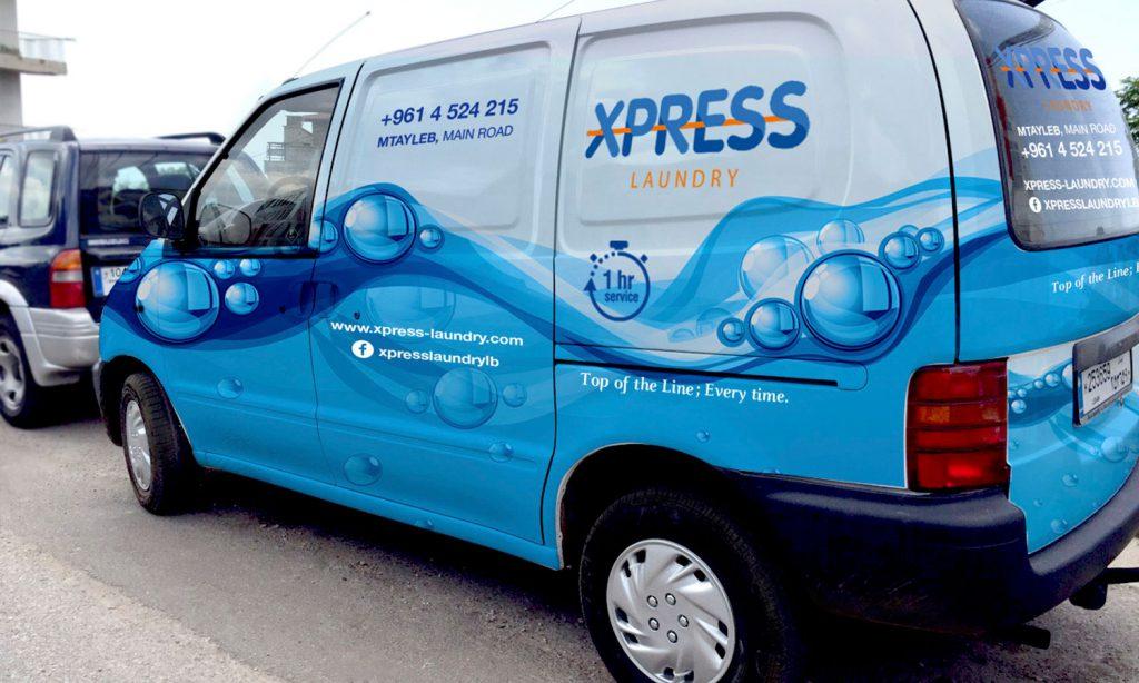 XPRESS - branding & graphic design for van