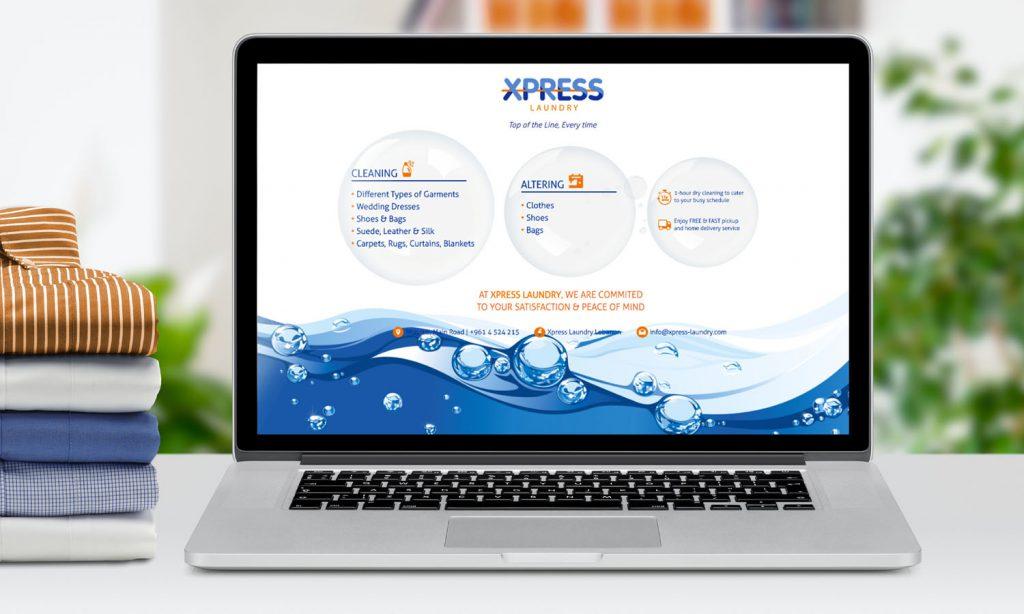 XPRESS - website desktop mockup