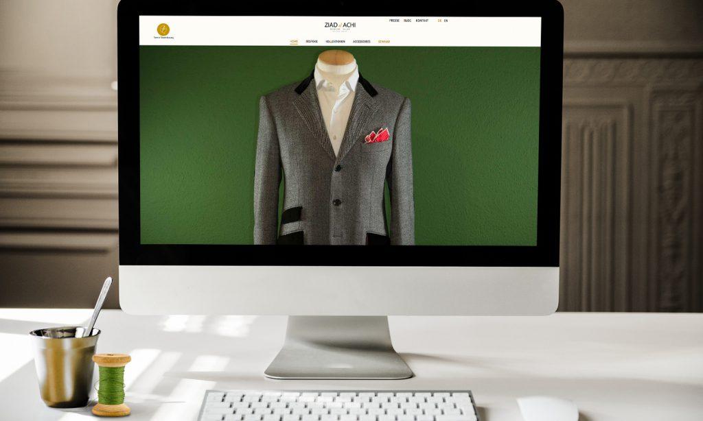ziad el achi - website design mockup
