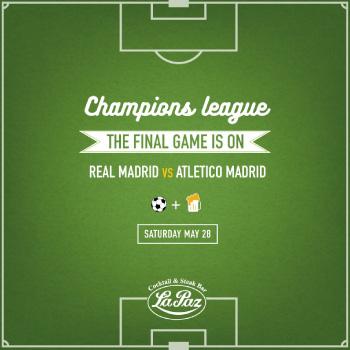 la paz champions league post for social media